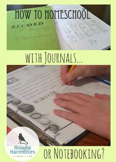 What's the difference between journaling and notebooking? And How to Homeschool using them.