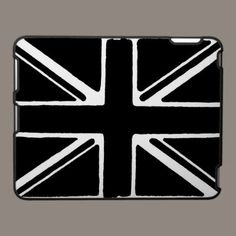 Abstract black and white union flag. ipad cases by ccrcats