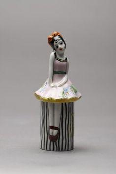 NORITAKE FIGURAL DRESSER JAR