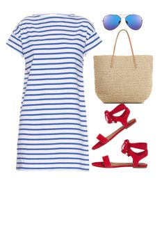 Are you looking for a cute and stylish 4th of July outfit? These outfit ideas for women won't have you looking like a walking American flag, but instead festive and ready to celebrate! Click through to see these casual outfits featuring our country's colors of red, white and blue.