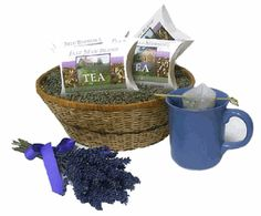 Lavender Teas    This is a great gift for any tea lover or maybe just for yourself!  --  refreshing blend of black tea, lavender, and tarragon  --  blend of green tea, jasmine blossoms and lavender  --  a relaxing blend of spearmint, peppermint, lemon myrtle, lemongrass, orange zest, lavender & rooibos.  --  herbal blend of chamomile, lemon verbena, lavender, rooibos, bee pollen, and natural honey flavor.  --  $9.90 with free shipping