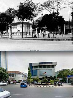 Kledingfirma Savelkoul aan Rijswijk te Batavia, 1929, ,.,  Gedung Bank BRI di jl Veteran, Jakarta, 2014