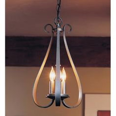 Natural Iron Three Light Chandelier Hubbardton Forge Candles Without Shades Chandeliers Ce