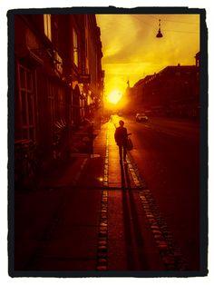 Sunset in Copenhagen! #sunlight #sunset #citylife # evening #goldenlight