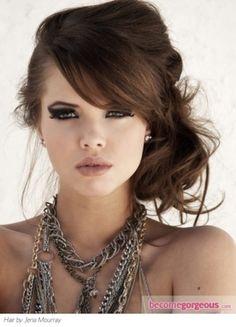 Messy Side Bun Hair Style by lorena