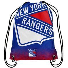 New York Rangers NHL Gradient Drawstring Backpack Bag