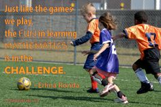 "Quote by Erlina Ronda in blog post, ""The fun in learning mathematics is in the challenge."" Background photo by USAG-Humphreys (CC BY 2.0) via flickr."