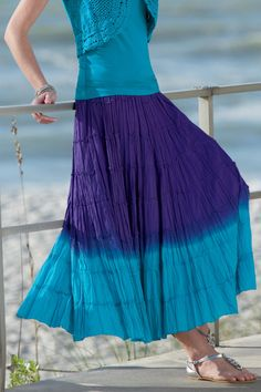 Purple... and blue.  It's a happy skirt!