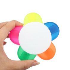 Vktech 5-farbig Textmarker Marker Stift Schreibwaren Blumen-Form (Pink, Gelb, Blau, Grün, Orange): Amazon.de: Bürobedarf & Schreibwaren