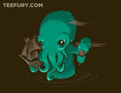 Cute-thulhu! by RogerRoger - Shirt for sale on March 30th at http://teefury.com - More by the artist at http://www.rogervonbiersborn.com/