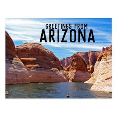 greetings from arizona lake canyon postcard - postcard post card postcards unique diy cyo customize personalize