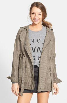 RVCA 'Chill Villain' Print Twill Hooded Jacket $68.98 40% OFF!