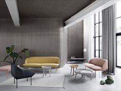 The Oslo Sofa by Muuto offers geometric lines and a light form for refined, comfortable lounging. Available in a two- and three-seater, this sofa invites you and your friends or colleagues to sit back and relax. Oslo, Living Room Scandinavian, Home Furniture, Furniture Design, Custom Furniture, Interior Design Process, Muuto, Sofa Shop, Design Moderne
