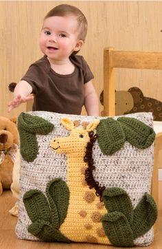 Download giraffe pillow crochet pattern - Allcrochetpatterns.net