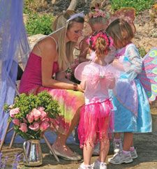 WINGS TO FLY: Children are getting ready in their chosen fairy Costumes -