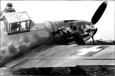 "Bf 109 G-6 W.Nr. 95 ... ""V?+??"", 101/2 vadaszszázad, Budapest Ferihegy, before 13 April 1944. Source: Collection Vági via Punka 2002, p. 46. 