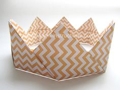 DIY Easy Modular Origami Crown - folding instructions/tutorial #papercraft #craft