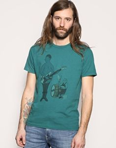 Image 1 of Nudie Miles Blue Chords T-Shirt