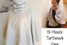 """15-Minute Turtleneck Cape DIY Tutorial  