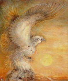 Relationship of Cancer and Creativity (Art: Shaman Eagle Woman, by Susan Seddon Boulet) Spirit Art, Art Visionnaire, Art Magique, Vision Quest, Goddess Art, Mystique, Animal Totems, Visionary Art, Native American Art