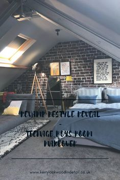 Revamp Restyle reveal, teenage boys bedroom makeover
