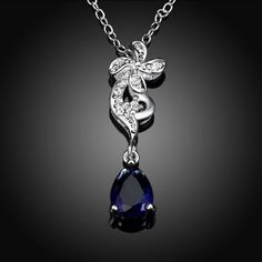 N114-A 925 Silver Plated Necklace Brand New Design Pendant Necklaces Jewelry for Women #CLICK! #clothing, #shoes, #jewelry, #women, #men, #hats, #watches