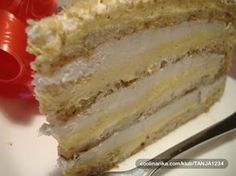 Recepti za top jela i poslastice: Japanski vetar Brze Torte, Rodjendanske Torte, Torte Recepti, Kolaci I Torte, Torta Recipe, Baking Recipes, Cake Recipes, Bulgarian Recipes, Serbian Recipes