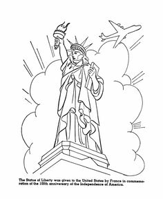 American Liberty Symbols Coloring Page KDG Social Studies