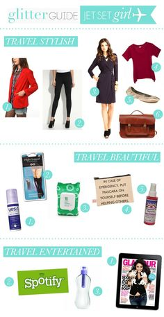Jet Set Girl: What to bring on the plane