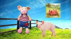 Varkentje Ondeugd inclusief boek! Pig Ondeugd! Amigurumi