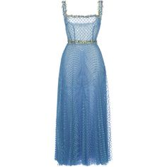 Luisa Beccaria Tulle Pois Plisse Midi Ballerina Dress (108 885 UAH) ❤ liked on Polyvore featuring dresses, luisa beccaria, maxi dress, blue, mid calf dresses, ballet dress, tulle midi dress, calf length dresses and blue tulle dress