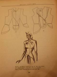 1948 Jacket model from book on Dress Design: Draping and Flat Pattern Making, by Marion Hillhouse and Evelyn Mansfield.