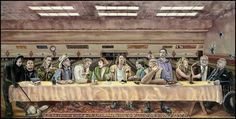 Lebowski Achievers ~ Products ~ Big Lebowski Last Supper Wallpaper Sticker ~ Shopify