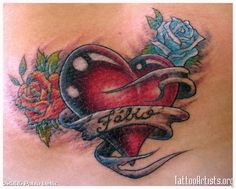 Heart Designs With Names Heart tattoo designs with