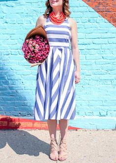 Nordstrom spring striped dress
