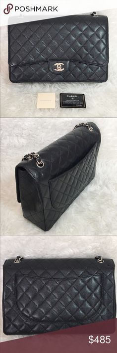 ❤️Beautiful Flap Caviar w/Silver Maxi Bag❤️ ❤️Beautiful Flap Caviar w/Silver Maxi Bag❤️Maxi with Silver Hardware, beautiful caviar leather! Comes with dust bag. PRICE REFLECTS ⭐️⭐️ Bags Shoulder Bags