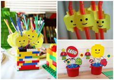 Lego-Deko - eine schöne Idee für die nächste Kindergeburtstagsparty zum Motto Lego. Vielen Dank Dein blog.balloonas.com #kindergeburtstag #motto #mottoparty #kinder #kids #birthday #party #lego #games #spiele #fun #indoor