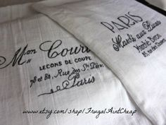 French Kitchen Towels set of 2 30x38 by FrugalAintCheap on Etsy, $14.00
