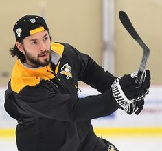 Penguins Kris Letang skates before afternoon practice at UPMC Lemieux Sports Center
