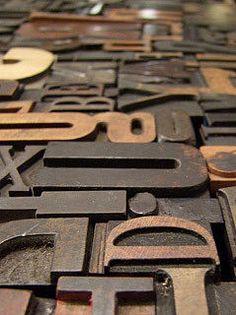 Vintage Wooden Letterpress Blocks