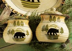 Black Bear Forest Canister Set - 3 pcs