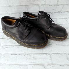 e2bbb0697d4 Mens Vintage Dr Doc Martens Shoes 8053 Size 7 US 6 UK Made In England Black   DrMartens  Oxfords. Oscar M