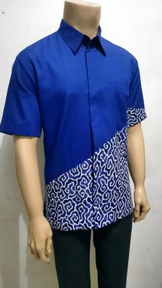 Batik megamendung Cirebon by Serat Indonesia African Shirts For Men, African Dresses Men, African Attire For Men, African Clothing For Men, Latest African Fashion Dresses, African Men Fashion, African Wear, Mens Fashion, African Style
