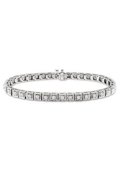 2 5/8 ct Diamond Bracelet In 14k White Gold