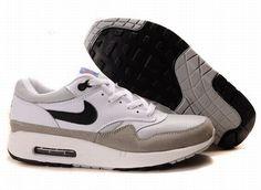 check out 95700 6a69d Mens Nike Air Max 1 White Medium Grey Neutral Grey Black Shoes Nike Free  Run 3 -
