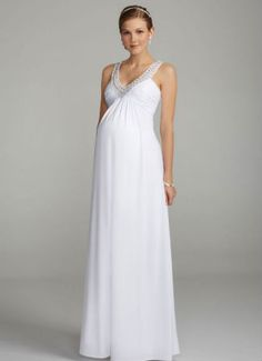 David's Bridal offers a stunning selection of maternity wedding dresses & gowns in many styles. View our maternity wedding gowns to find your perfect look! Maternity Bridesmaid Dresses, Maternity Gowns, Maternity Fashion, Maternity Wedding, Wedding Dresses Photos, Bridal Wedding Dresses, Cheap Wedding Dress, Wedding Venues, Casual Wedding