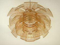 Japanese lighting designer, Toshiyuki Tani, designed the Sen lighting series out of thin bamboo strips...