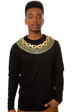Crooks and Castles Tee Greco Chain Gang LS Tee Black - Karmaloop.com