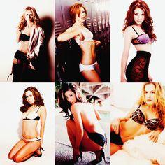 buffy ladies & their lingerie. sarah michelle gellar. alyson hannigan. michelle trachtenberg. eliza dushku. charisma carpenter. emma caulfield.