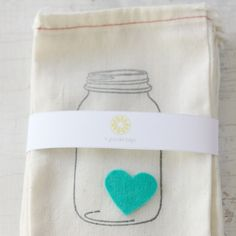 Heart Cloth Bags -  I have the mason jar stamp these were made with...  Paper treat bags and a heart stamp?